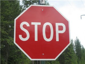 don't put stop signs in your real estate marketing letters