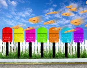 mailboxes waiting for your real estate prospecting letters