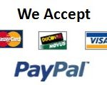 We accept major credit cards and Pay Pal
