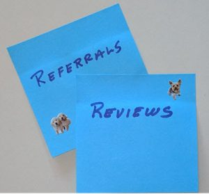 referrals and reviews