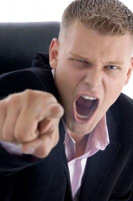 unprofessional real estate agent shouting