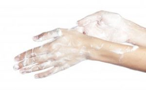 washing hands to prevent spread of illness