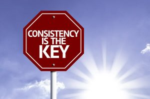 In email or direct mail, consistency is the key to success